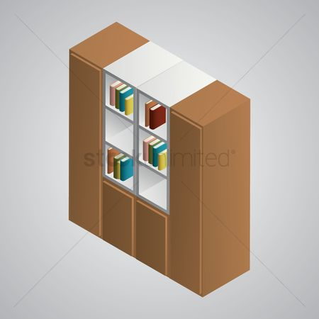 Racks : Isometric bookshelf