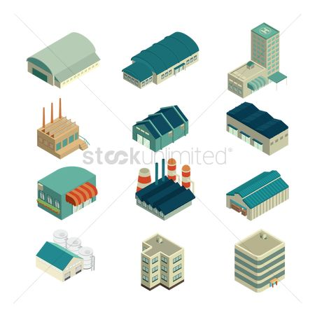 Awning : Isometric buildings