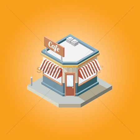 Awning : Isometric cafe