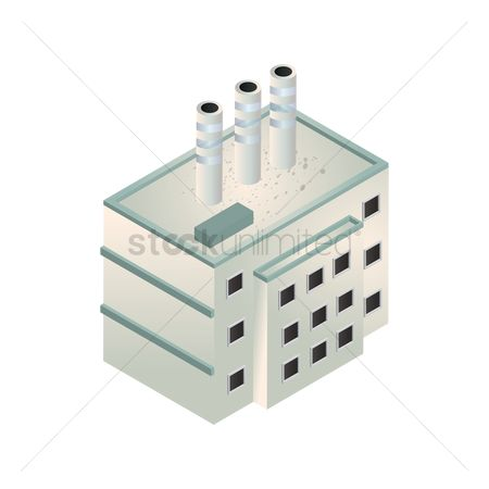 Chimneys : Isometric factory