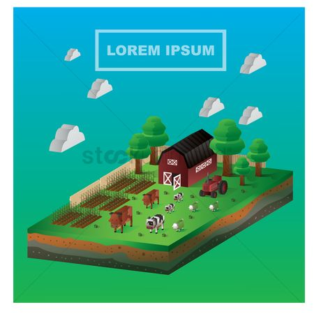 Cow : Isometric farm