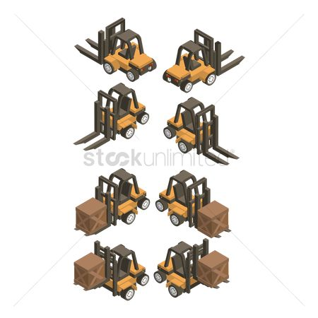 Object : Isometric forklift truck