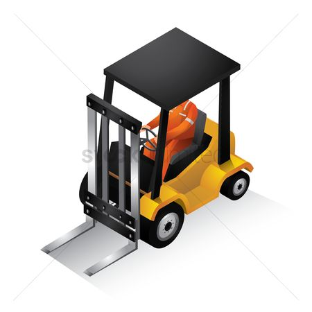 Automobile : Isometric forklift truck
