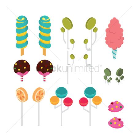 Confections : Isometric lollipops