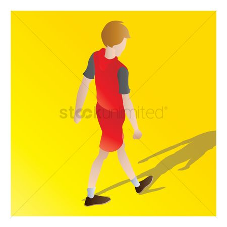 Backview : Isometric of a boy