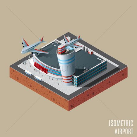 Lorries : Isometric of airport