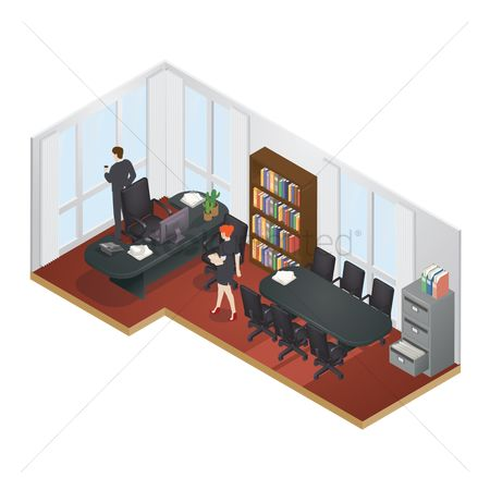 Entrepreneur : Isometric office layout
