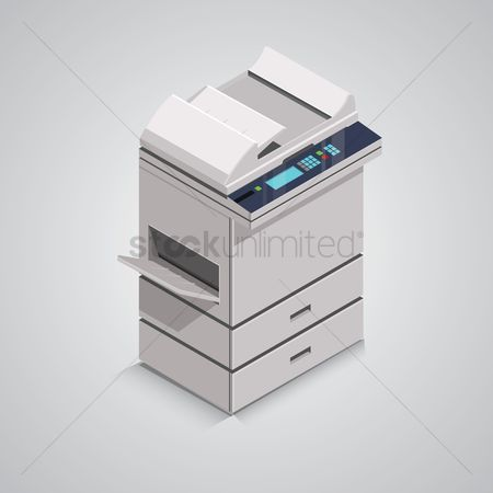 Machines : Isometric photocopier