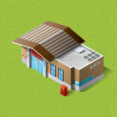 Office  building : Isometric post office building