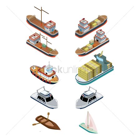 Transport : Isometric ships