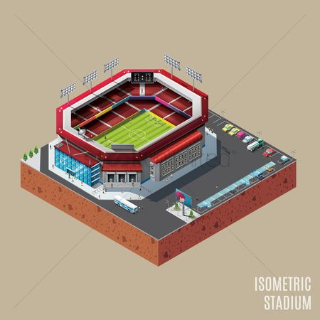 Taxis : Isometric stadium