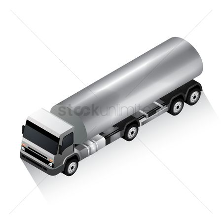 Automobile : Isometric tanker truck