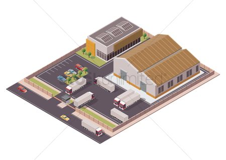 Truck : Isometric warehouse