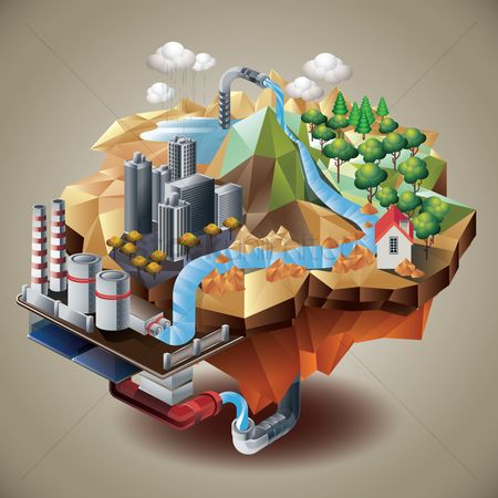 Mountains : Isometric water station