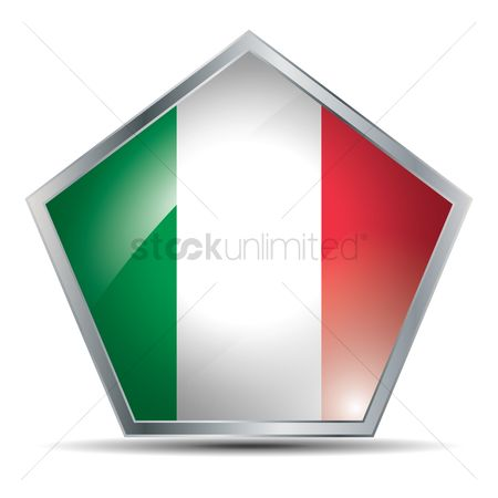 Pentagons : Italy flag button