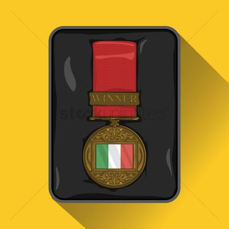 Challenges : Italy flag on medal