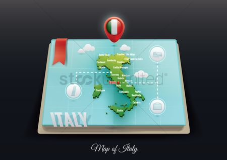 Nation : Italy map
