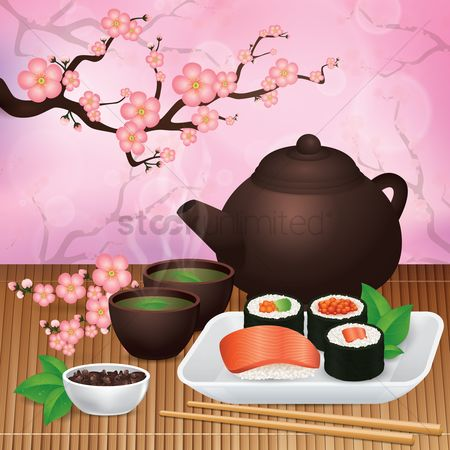 Teapot : Japanese food