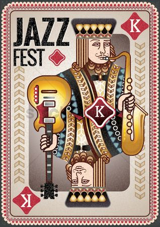 Musical instruments : Jazz fest poster