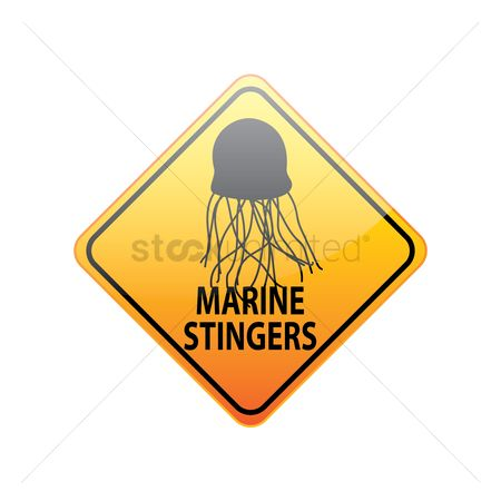 Beware : Jellyfish warning sign