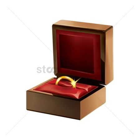 Jewelleries : Jewelry box with ring