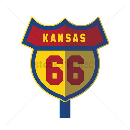 Kansas : Kansas 66 road sign