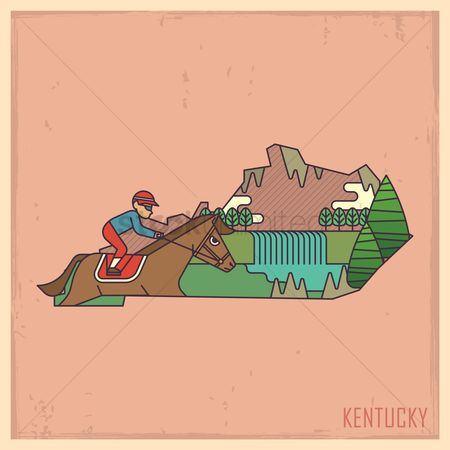 Race : Kentucky state map