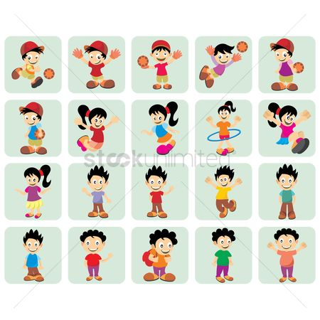 Boys : Kids icon set