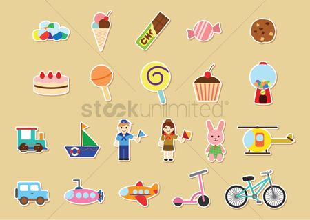 Transport : Kids stickers collection