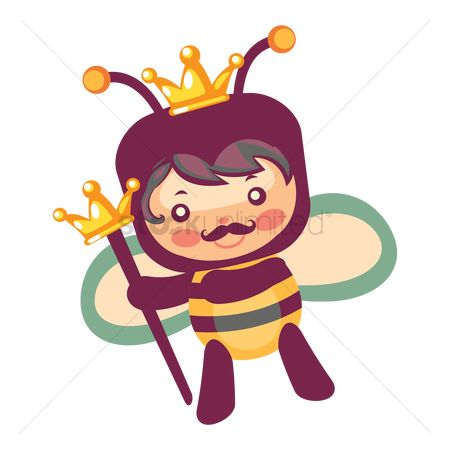 Royal : King honey bee