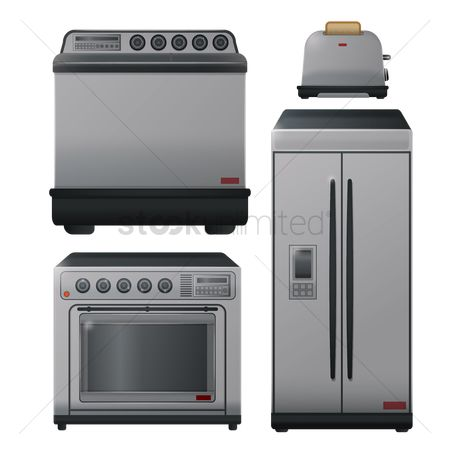 Washing machine : Kitchen appliances set