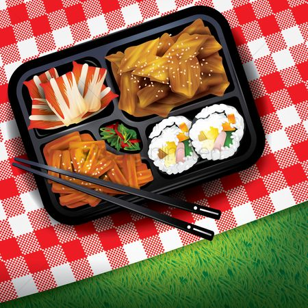 Dishes : Korean rice box