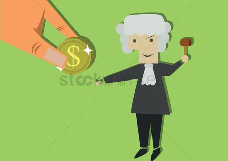 Equality : Lawyer holding gavel