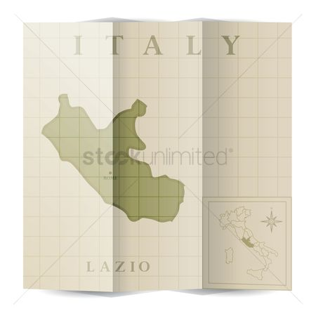 Highlights : Lazio paper map