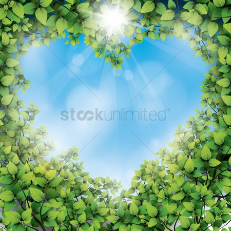 Heart : Leaves in the shape of heart