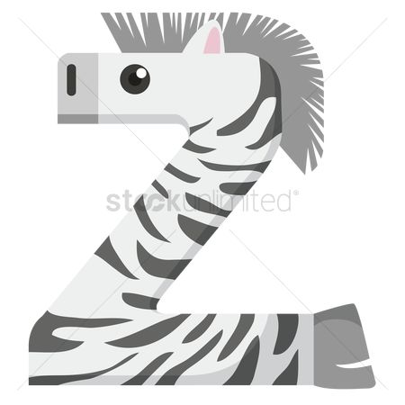 Cartoon : Letter z for zebra