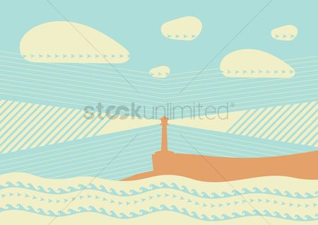 Lighthouses : Lighthouse background design