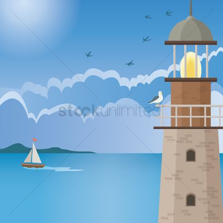 Ocean : Lighthouse