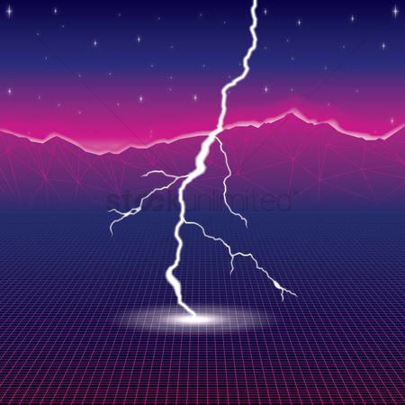 Party : Lightning background design