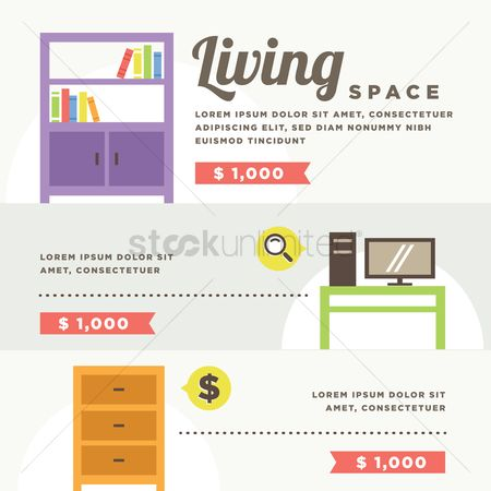 Racks : Living room interior with furniture