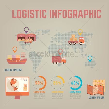 Truck : Logistics delivery infographic