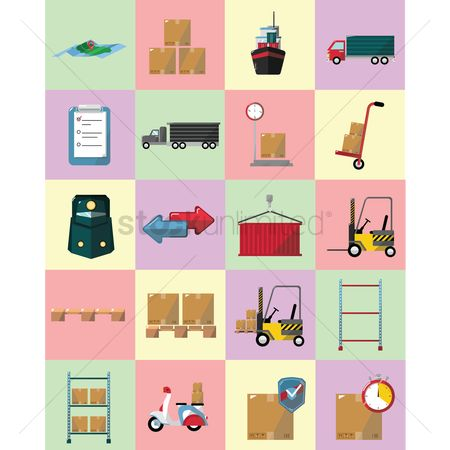 Racks : Logistics icons