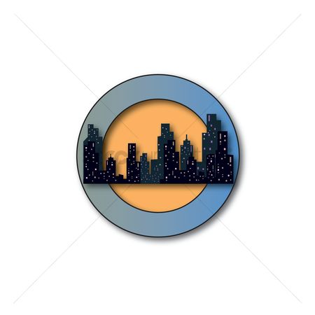 Skyscraper : Logo with buildings and skyscrapers