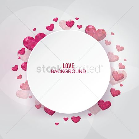 Copy space : Love background