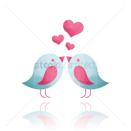 Heart : Love birds
