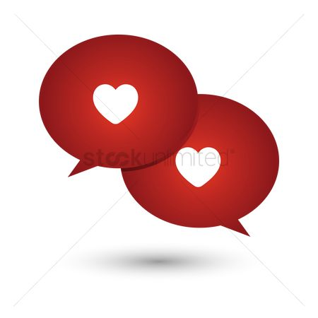 Love speech bubble : Love messages