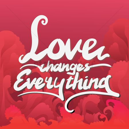 Compassion : Love typography design