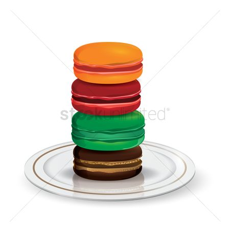 Cookie : Macarons in a plate