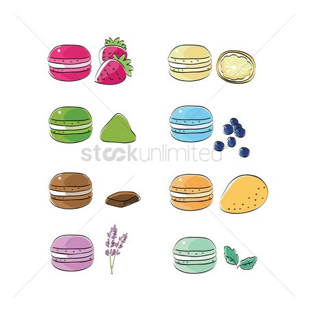 Blueberry : Macarons
