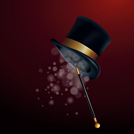 Magic : Magician hat with wand